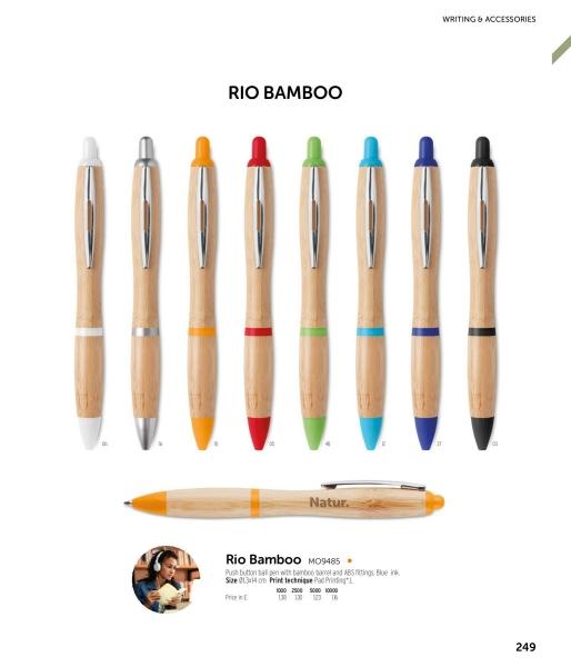 Długopis z bambusa             MO9485-03