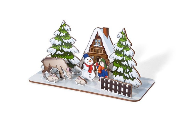 Dekoracja świąteczna ZIMA
