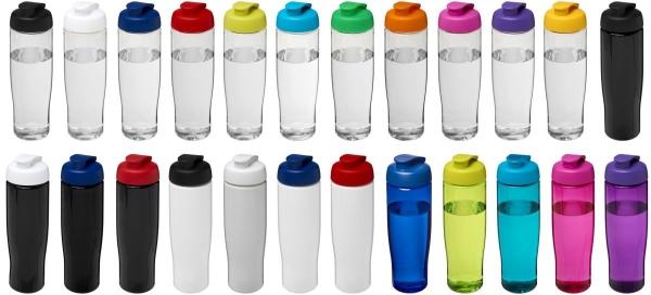 Bidon H2O Tempo® o pojemności 700 ml z wieczkiem zaciskowym, przezroczysty