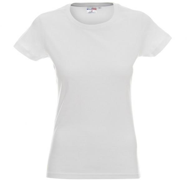 Promostars T-SHIRT  ladies heavy biały