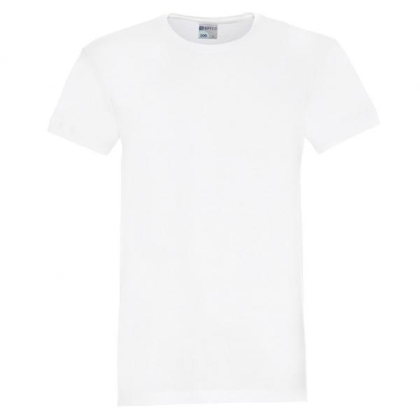 T-SHIRT 100 biały - GEFFER