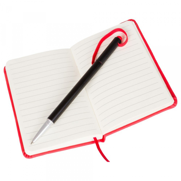 Notatnik ok. A6 z długopisem z zatyczką, touch pen